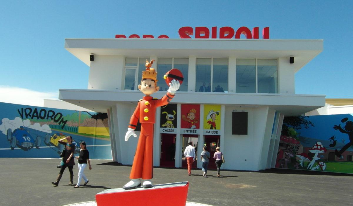 Parc Spirou : Benedetti réalise la façade de l'entrée du Parc